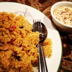 Chicken Pulao and Raita